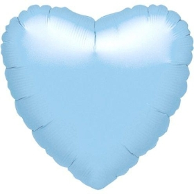 Blue Foil Heart Balloon