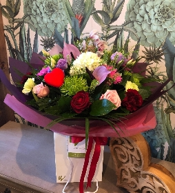 Luxury Valentines Aqua Bouquet